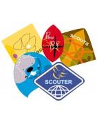 Insignias oficiales de la Federación de Asociaciones de Scouts de España. ASDE . Uniforme oficial scout ASDE
